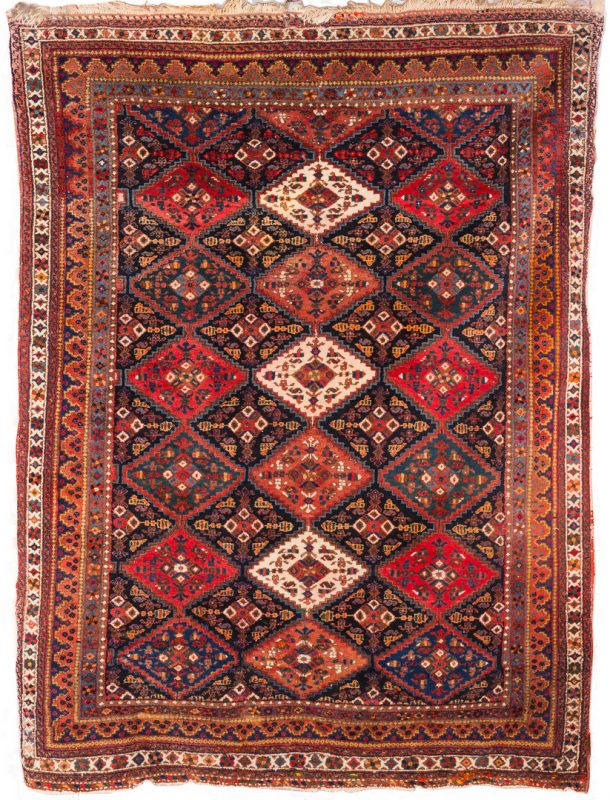 "Lot 862: Persian Afshar, 7'2"" x 5'3"", circa 1940"