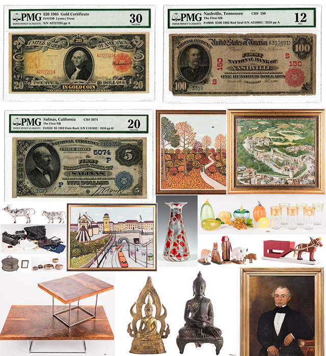 Oct. 21, 2017 Online Auction featuring U.S. and World Currency and Decorative Arts