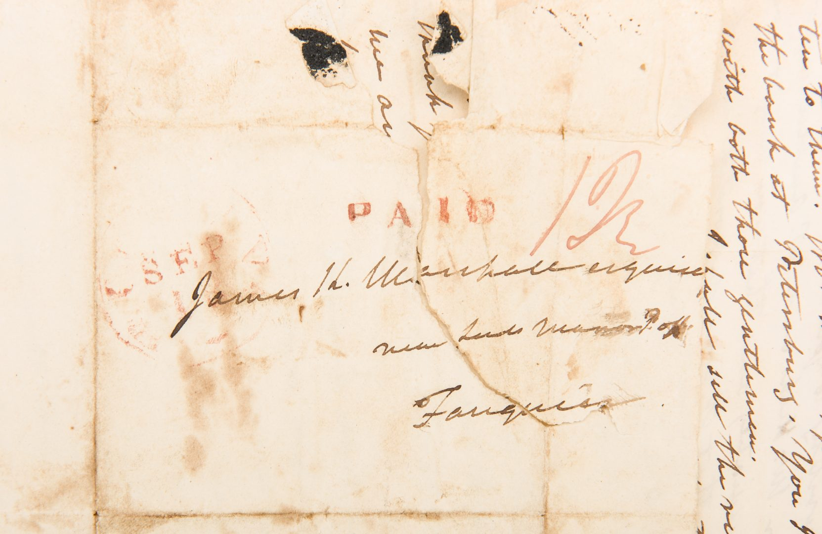 Lot 259: 1 John Marshall Signed Letter to Son, dated 1832