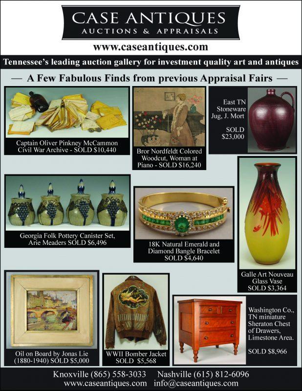 Maryville, TN Antique & Art Appraisal Fair Saturday, March 24th, 10am – 2pm