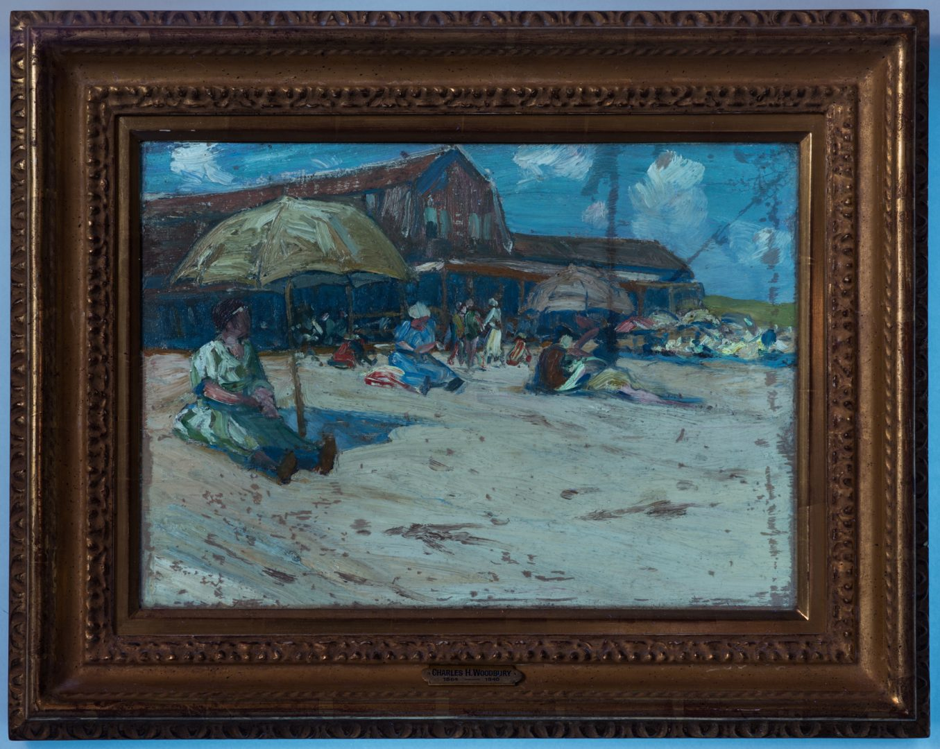 Lot 118: Charles Woodbury O/C, Ogunquit Bath House