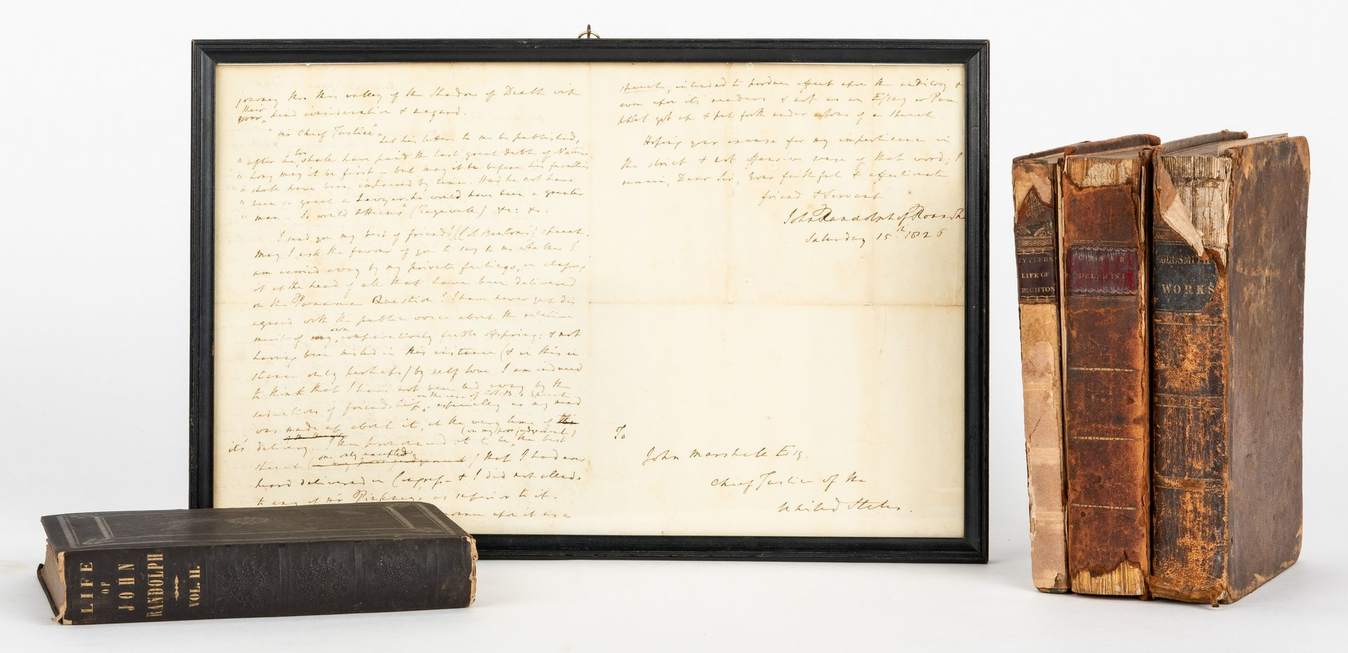 Lot 261: 5 Marshall Family Items inc. Signed Books and Letter
