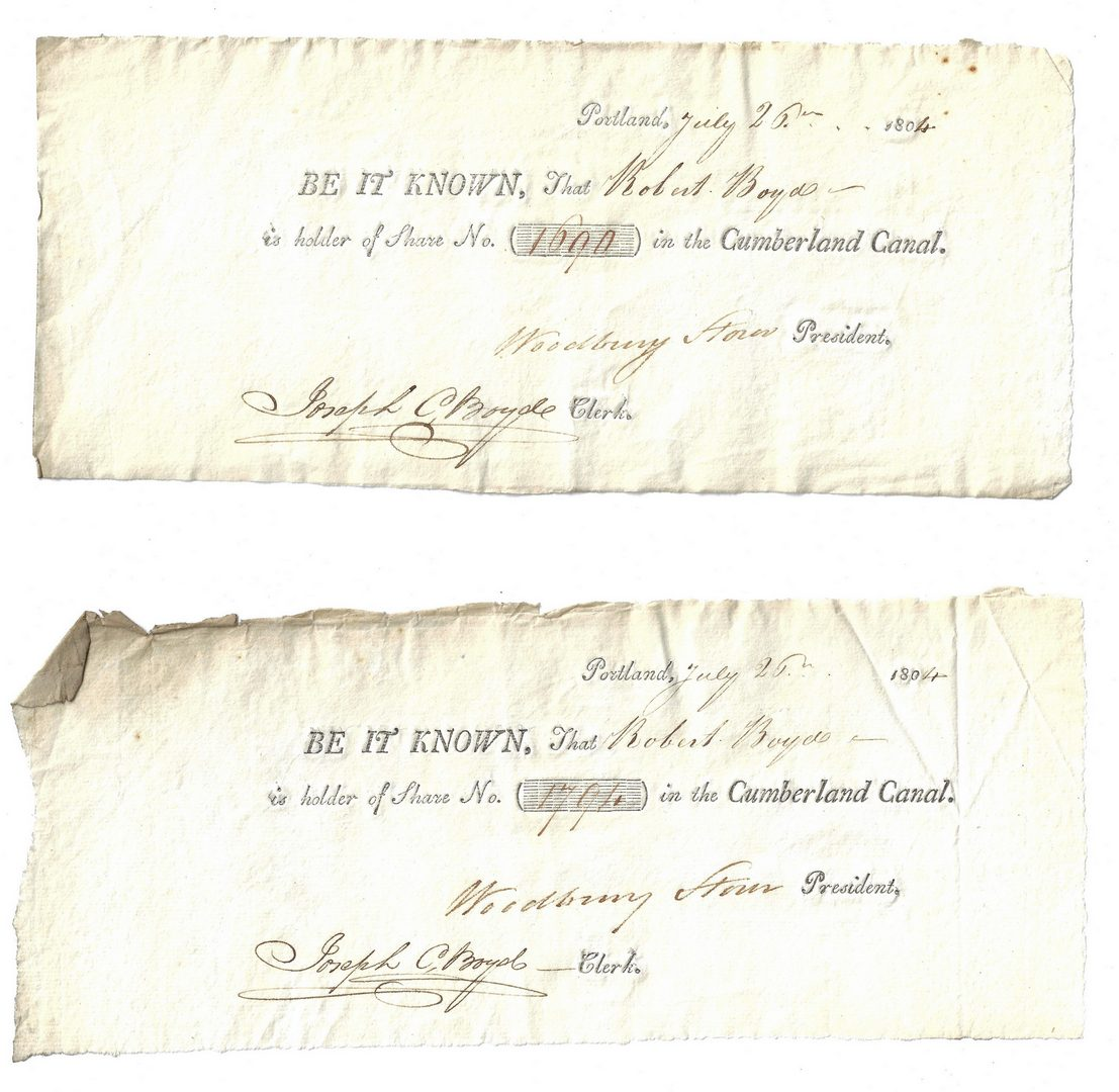 Lot 269: 24 19th C. Commerce Docs., inc. B. Lincoln Signed