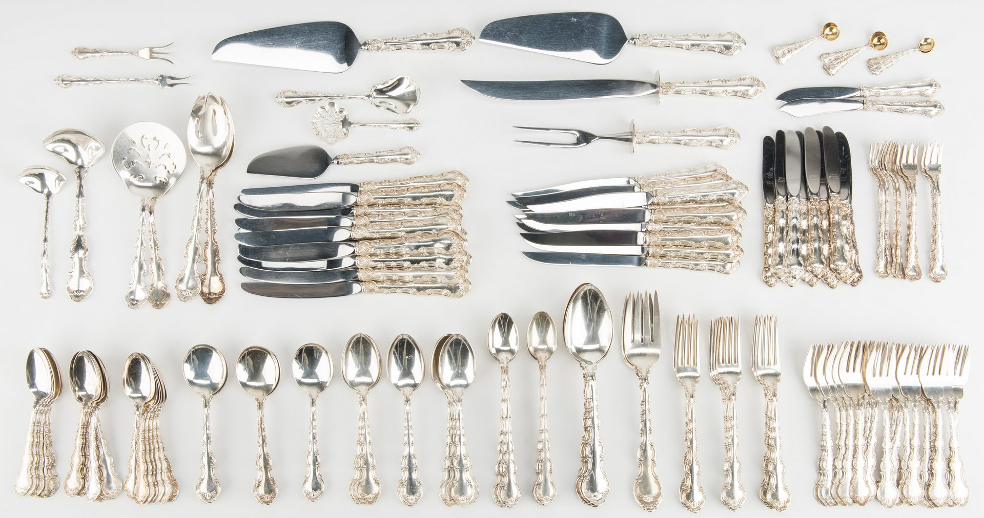Lot 49: Gorham Strasbourg Sterling Flatware, 174 pcs