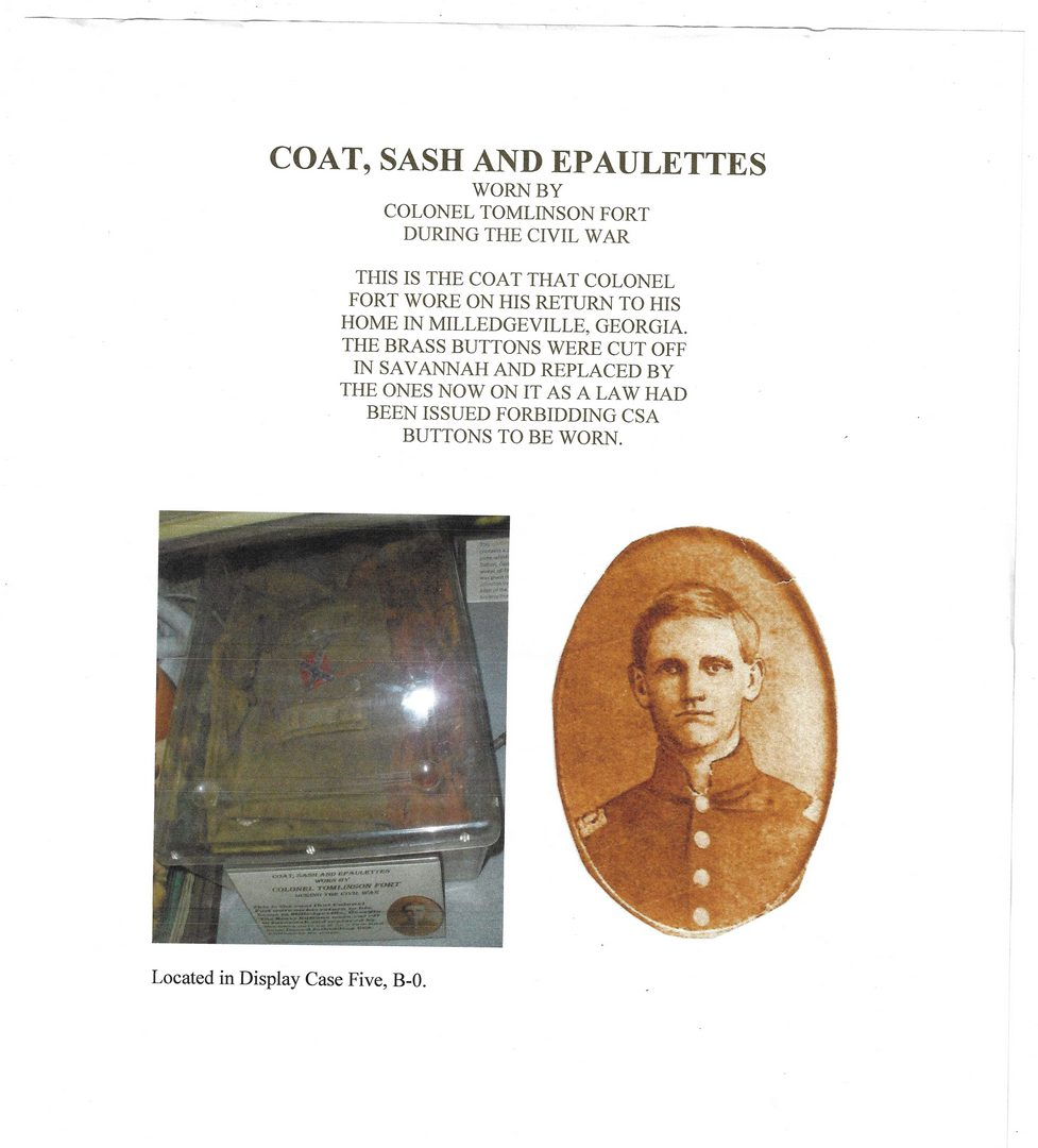 Lot 506: Colonel Tomlinson Fort CSA Civil War Shell Jacket, 4 items