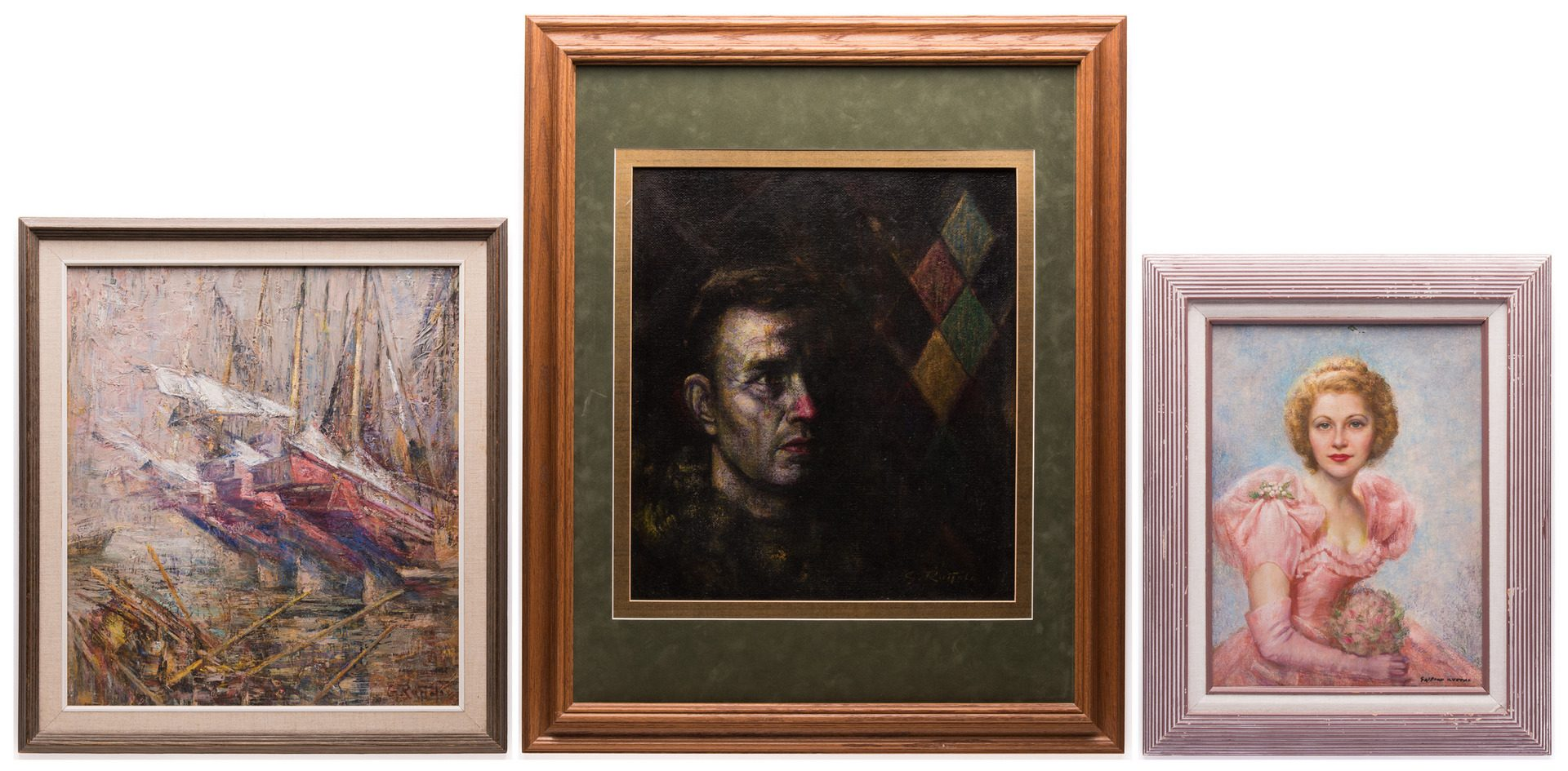 Lot 152: 3 Gaspere Ruffolo Paintings