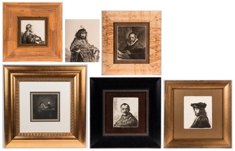Lot 164: After Rembrandt, 6 Amand Durand Portrait Heliogravures, 19th cent.