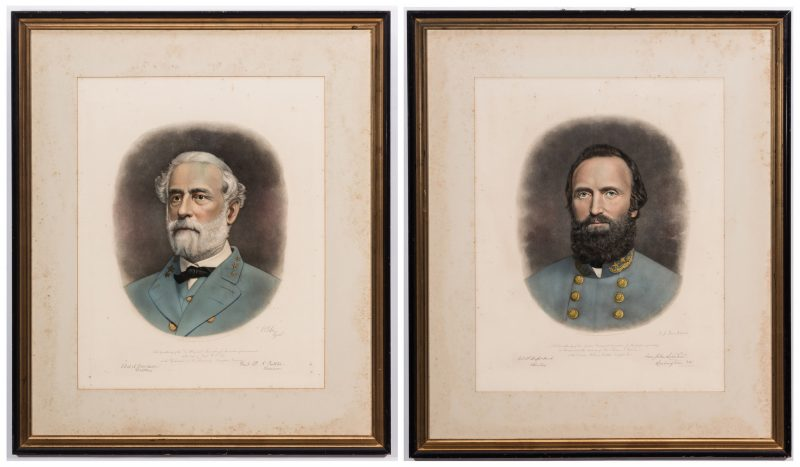 Lot 381: Robert E Lee & Stonewall Jackson Prints by A. B. Walter