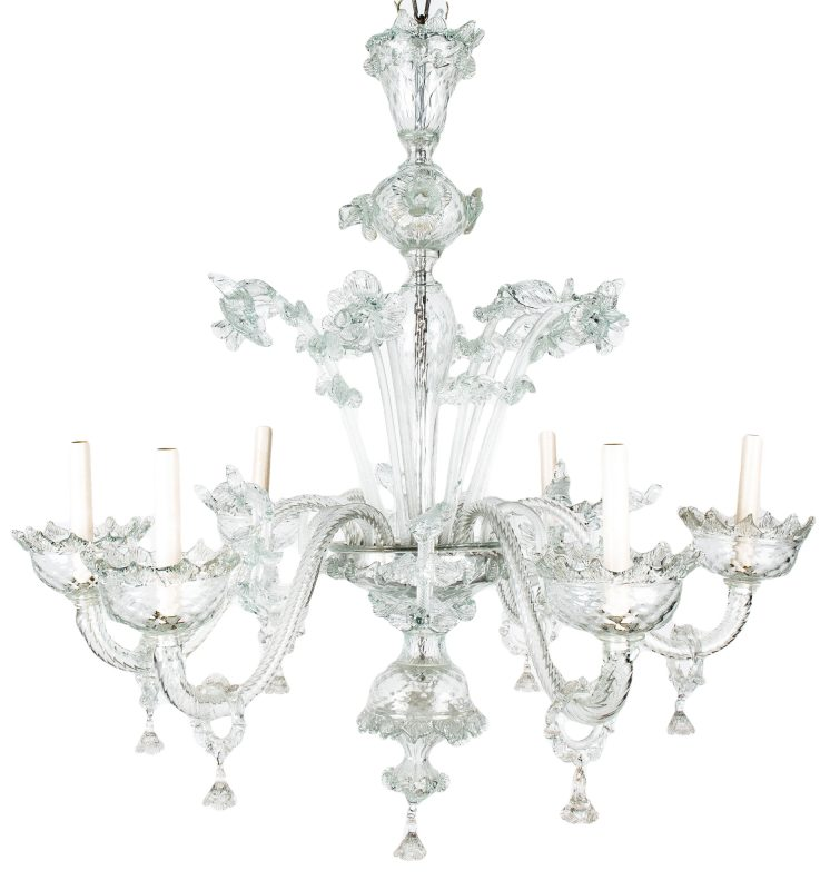 Lot 389: Venetian Blown Glass Chandelier