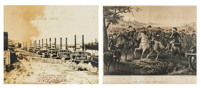 Lot 343: War era Photo of Nashville Wharf, Lee and Generals Print