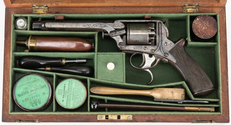 Lot 298: Hyde & Goodrich New Orleans Agent Marked Tranter Revolver, SN 8803