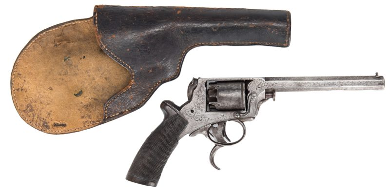 Lot 301: New Orleans and Vicksburg Agent Marked Tranter items, incl. Revolver, Holster