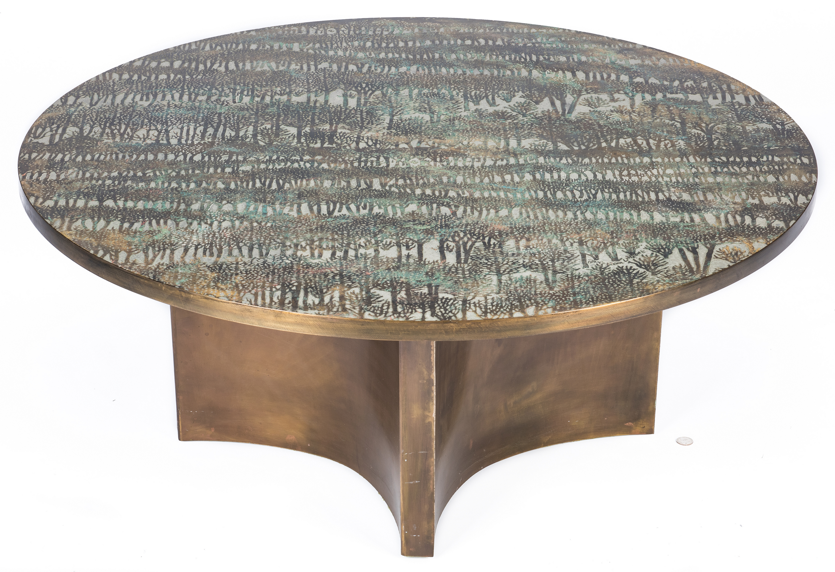 Philip Laverne Coffee Table.Lot 560 Philip Kelvin Laverne Eternal Forest Coffee Table