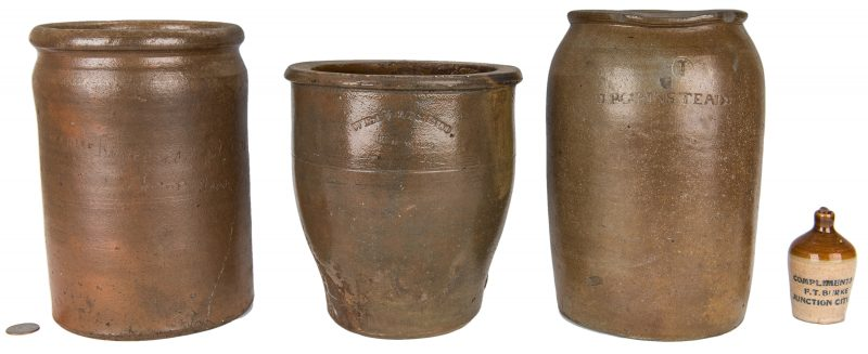Lot 147: Four KY & TN Pottery Pieces incl. Grinstead