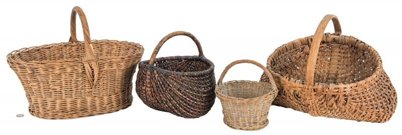 Lot 632: 4 East TN Baskets, incl. Linda Whaley