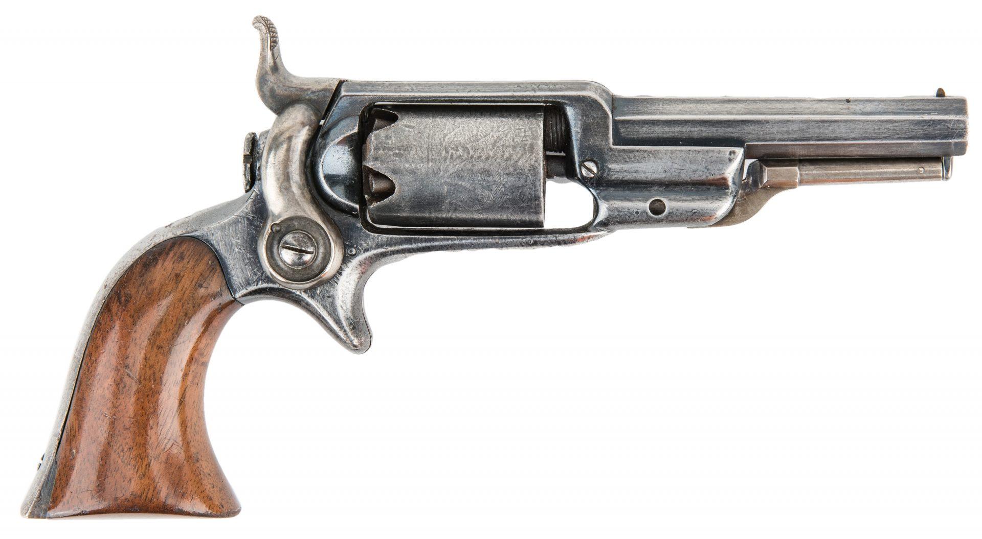 "Lot 318: Colt Model 1855 ""Root"" Sidehammer Pocket Percussion Revolver, .28 Caliber"