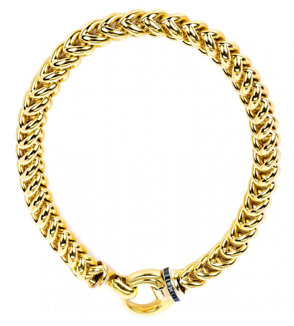 Lot 38: 18K Signoretti Link Necklace, 120 gr.
