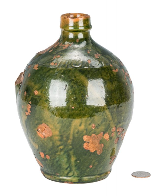 Lot 156: C A Haun Redware Pottery Jug, Greene County, TN
