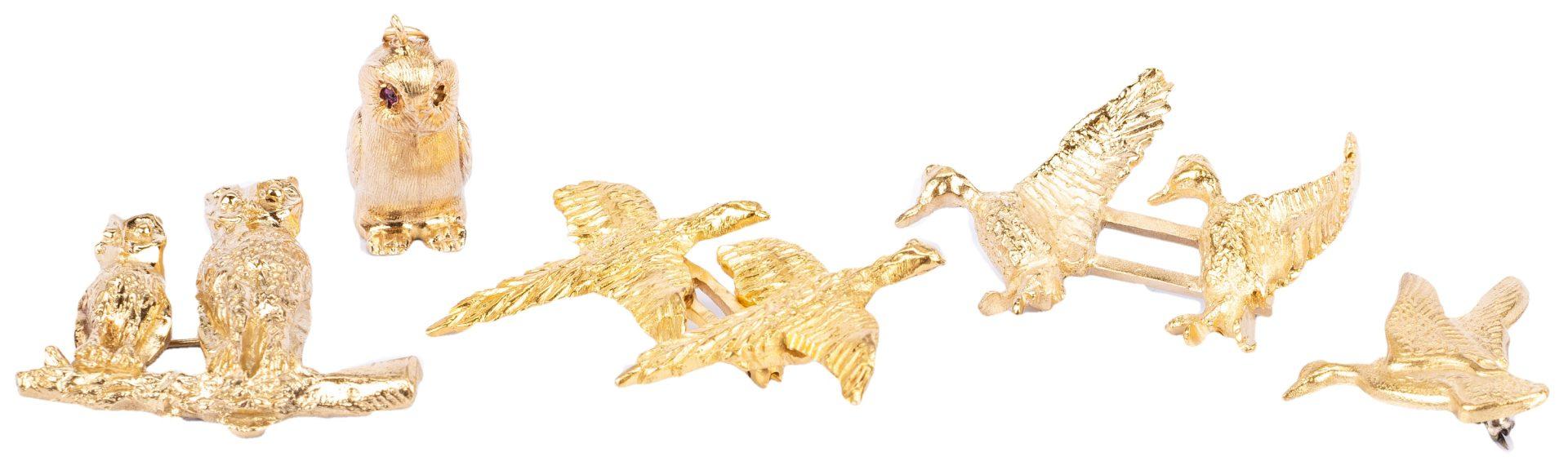 Lot 184: 14K Wild Fowl Jewelry, Pins and Charm