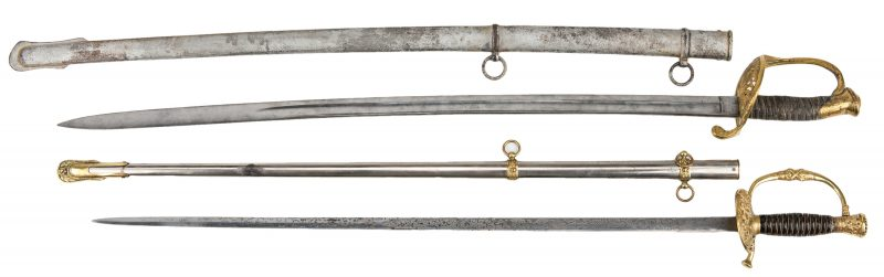 Lot 779: 2 Swords, incl. Model 1850 & G.A.R. Sword