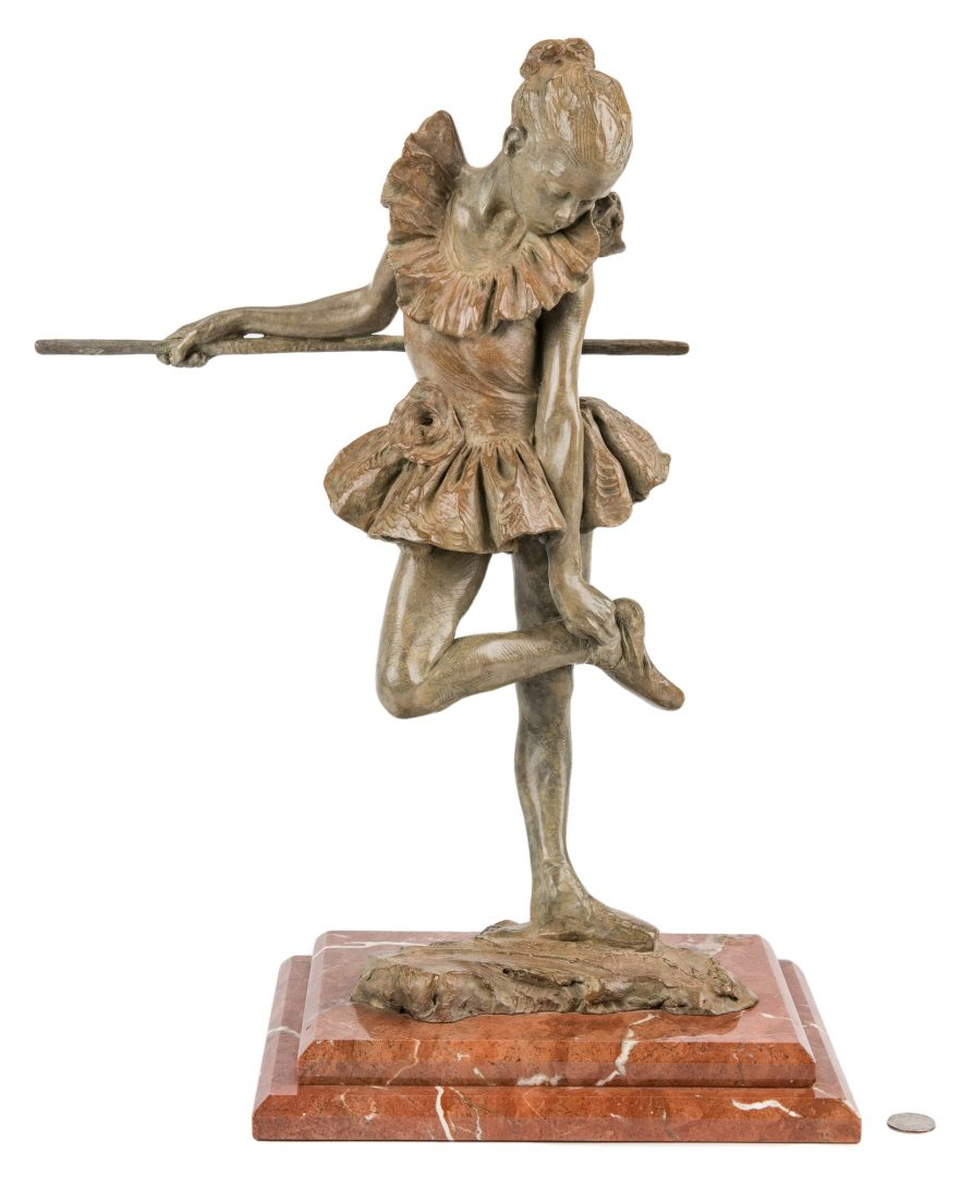 Lot 535: MacDonald Bronze Ballerina Sculpture, The Rose
