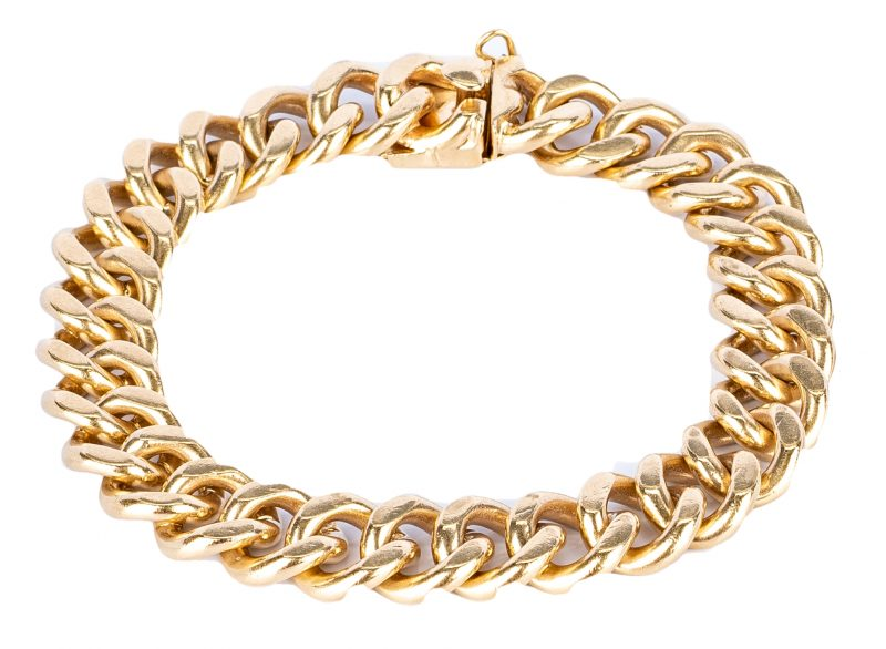 Lot 185: 14K Heavy Link Bracelet, 51 grams