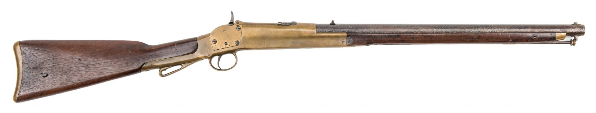 Lot 294: Morse Marked Brass Framed Carbine, SN# 1007
