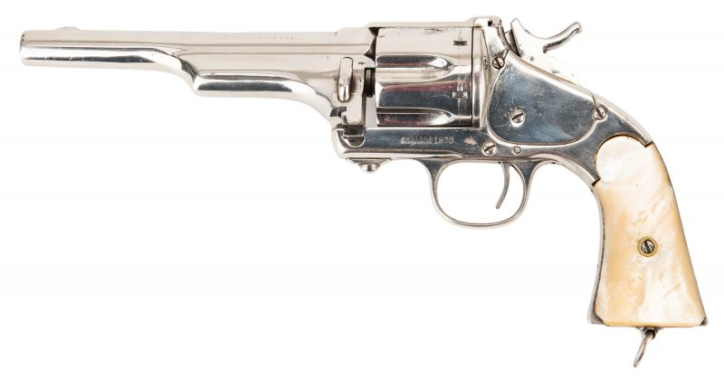 Lot 784: Merwin & Hulbert 3rd Model Frontier Army SA Revolver, .44-40 WCF