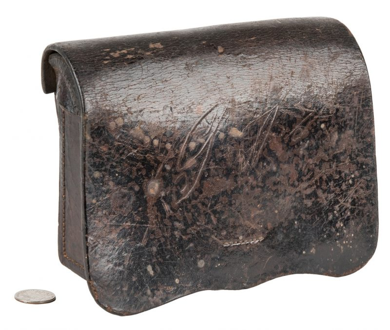Lot 277: Confederate Baton Rouge, LA Arsenal Model 1855 Leather Cartridge Box