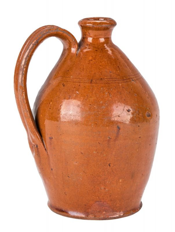 Lot 153: East TN Earthenware Jug, poss. Cain, Exhibited