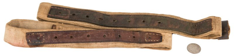 Lot 292: 2 Confederate Web Rifle or Carbine Slings