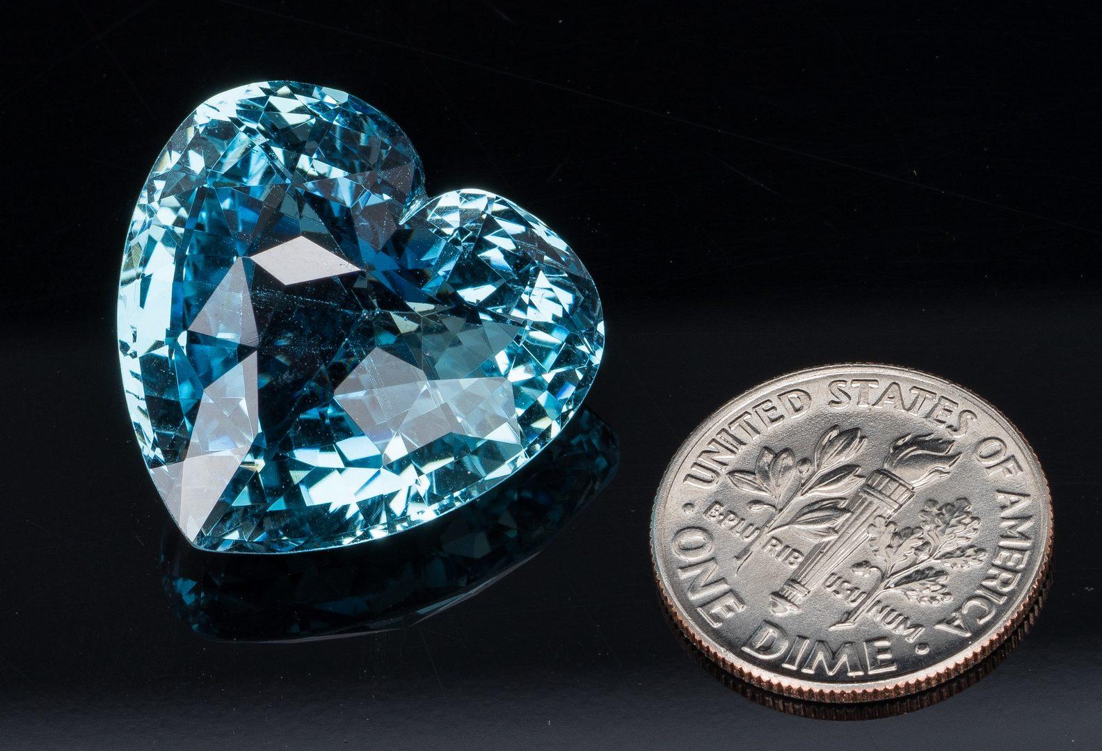 Lot 41: 29 ct Aquamarine Diamond Pendant, GIA