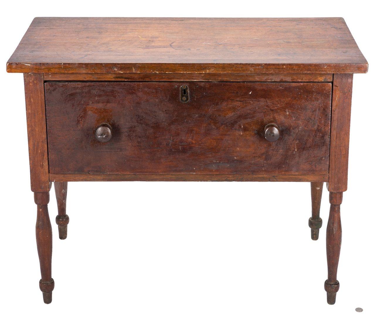 Lot 137: East TN or SW VA Sheraton Walnut Low or Sugar Table