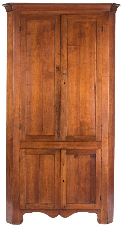 Lot 142: Middle TN Cherry Corner Cupboard