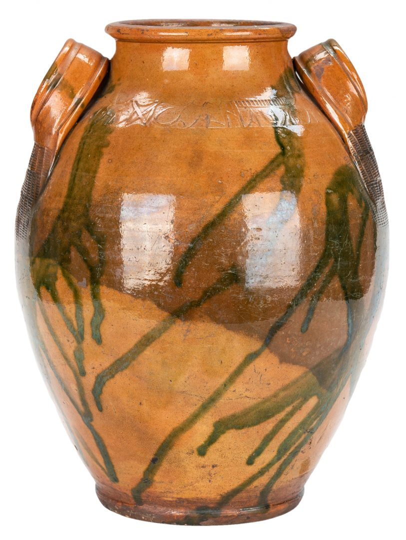 Lot 155: C A Haun Earthenware Pottery Jar, Greene Co., TN