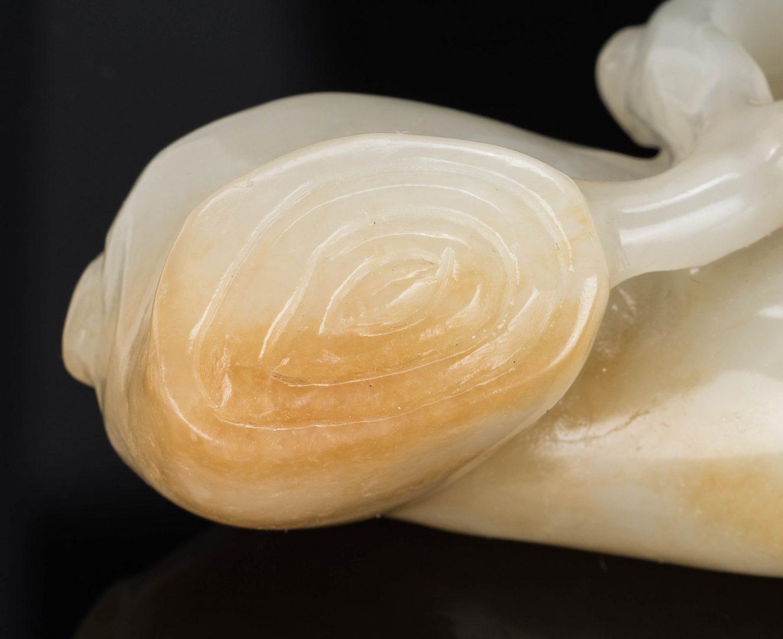 Lot 1: Chinese Celadon Jade Lingzhi Ruyi Scepter