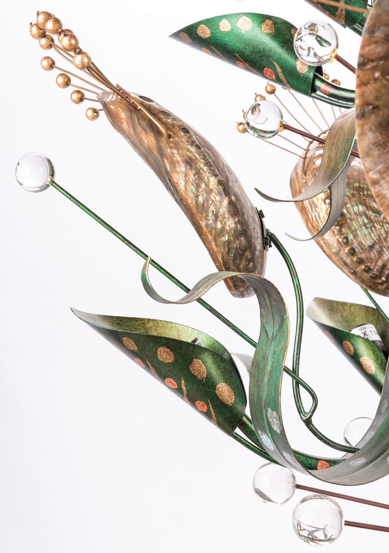 Lot 558: Baker Abalone Chandelier, Tony Duquette