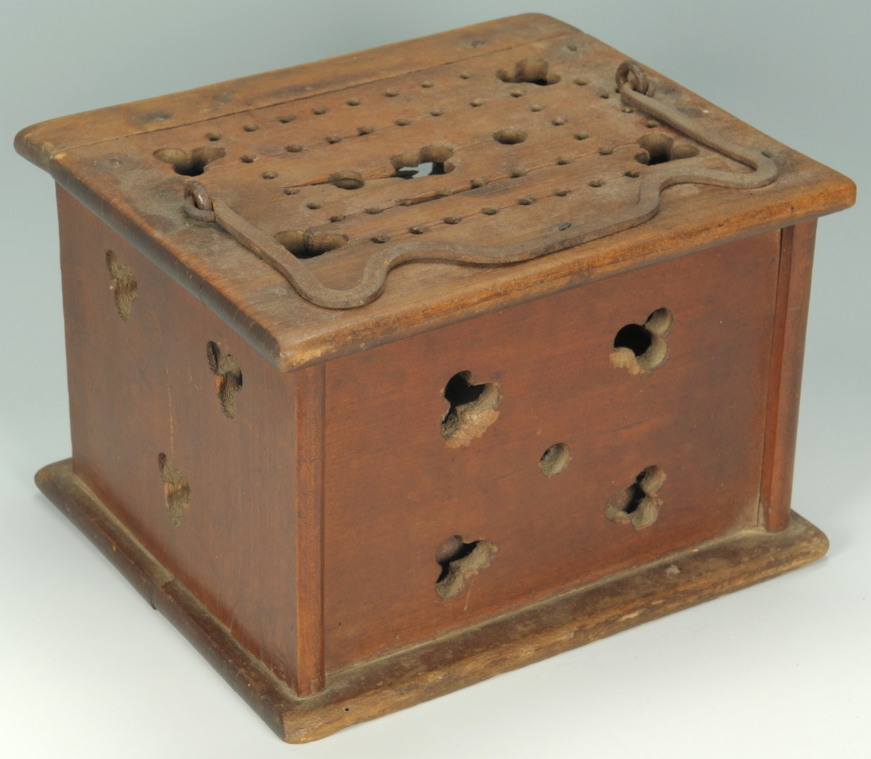 Lot 100: 19th Cent. Candle Mold, Foot Warmer & Copper Kettl