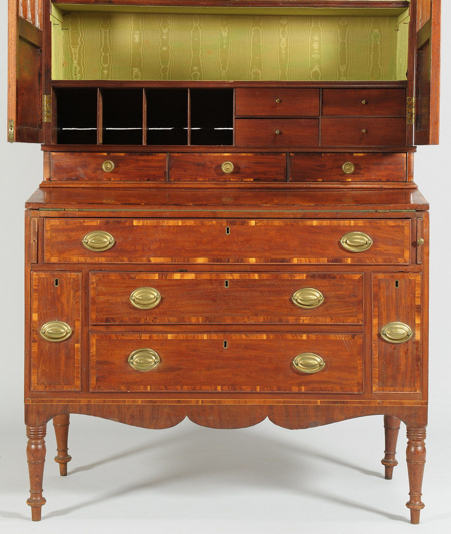 Lot 103: New England Desk and Bookcase