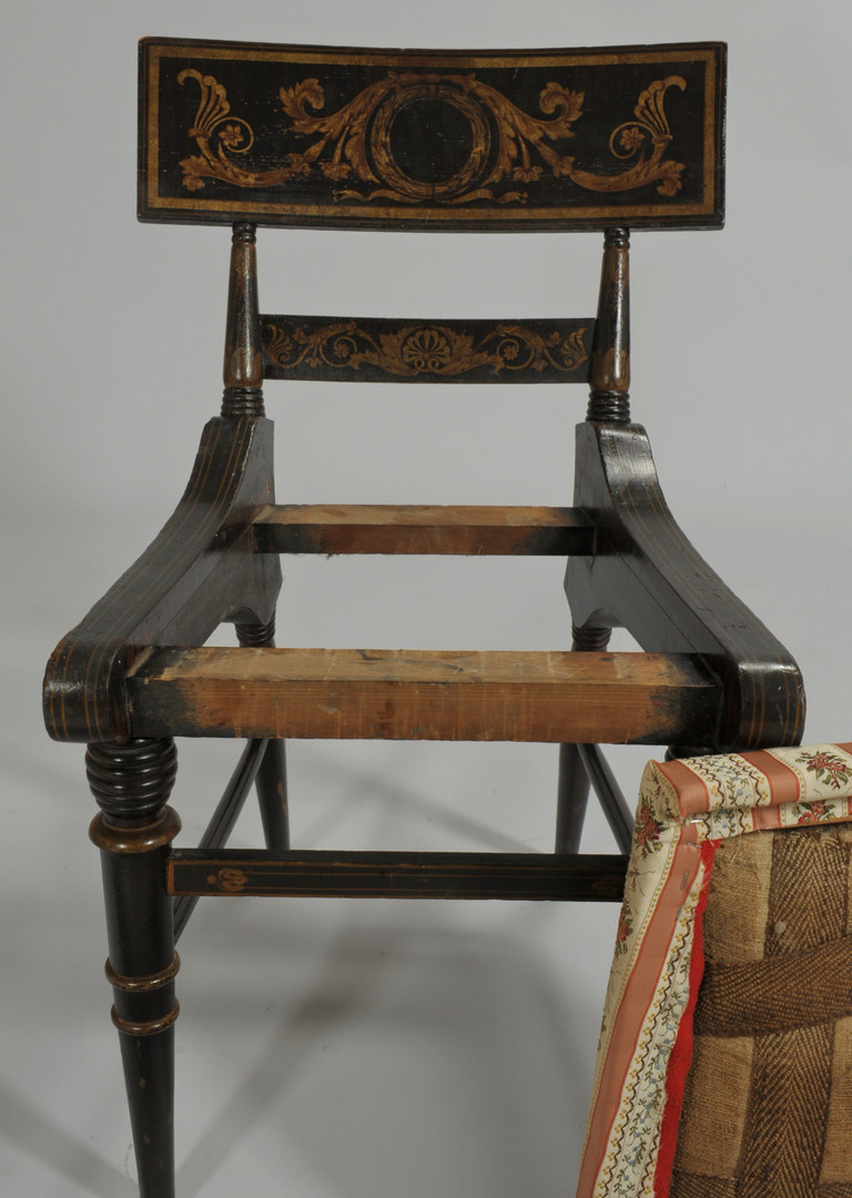 Lot 104: Fancy painted Baltimore Chair