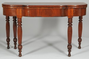Lot 105: Southern Sheraton Card Table