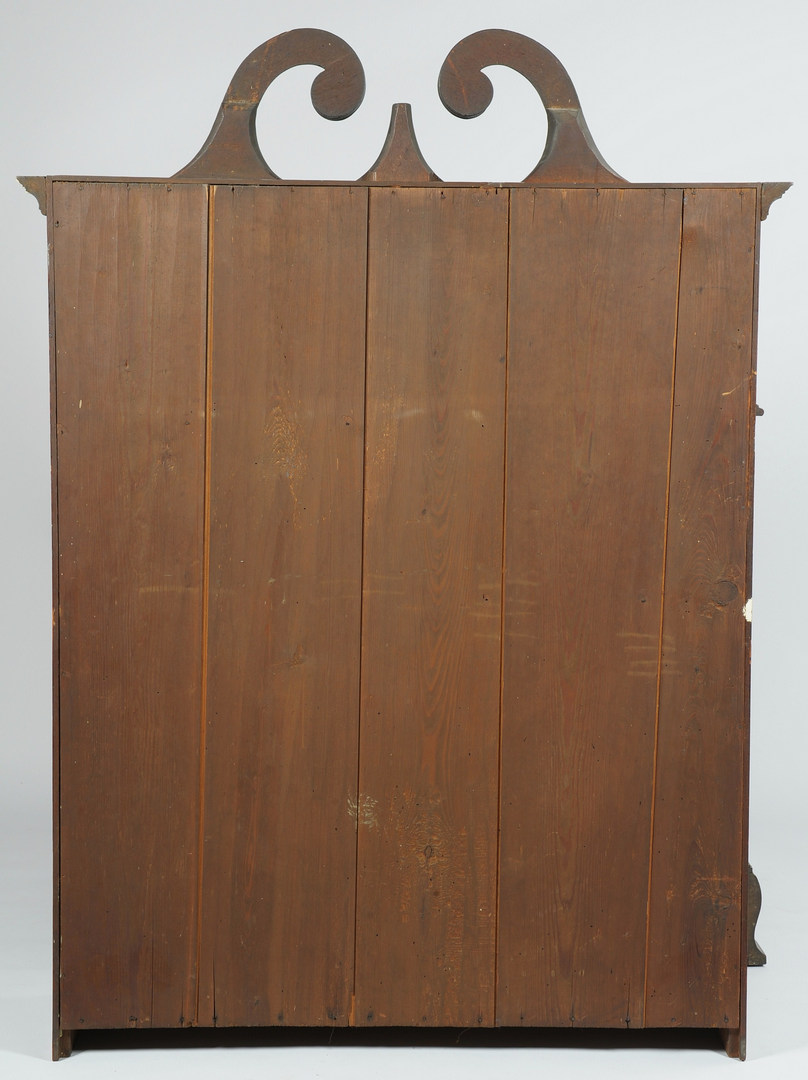 Lot 106: Virginia Frye-Martin school Bookcase on Bureau