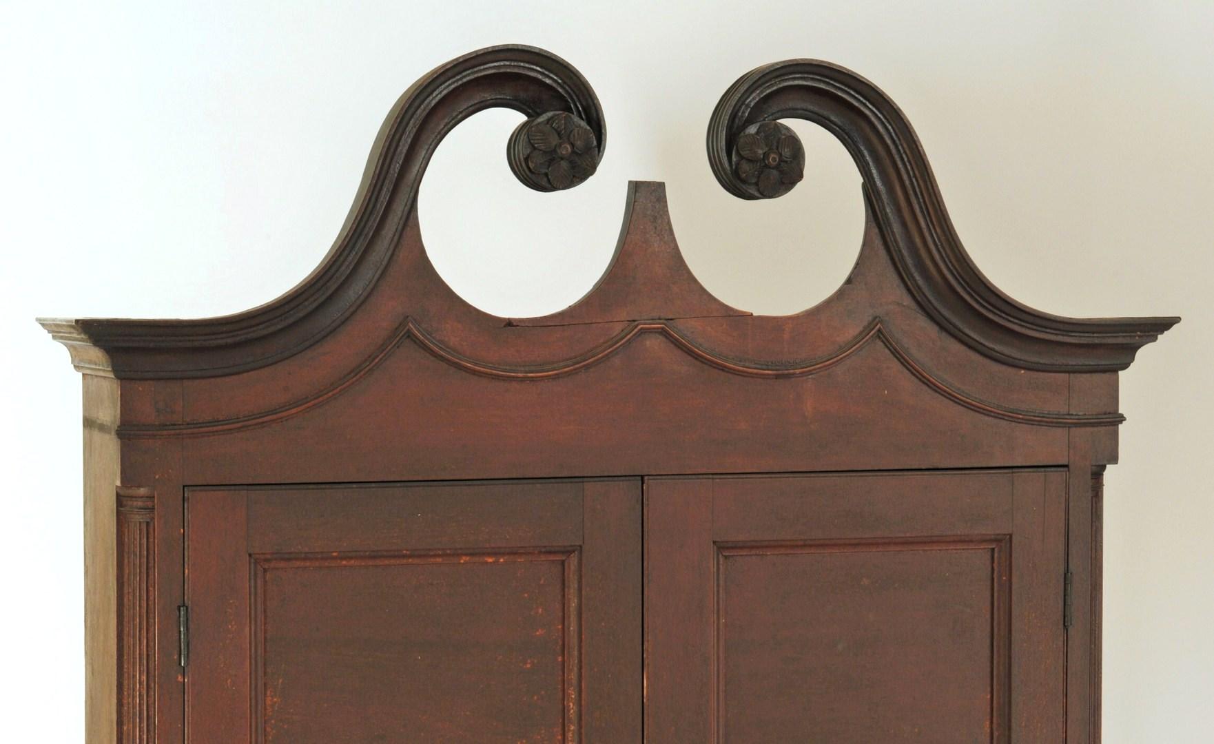 Lot 106: Virginia Frye-Martin school Bookcase on Bureau