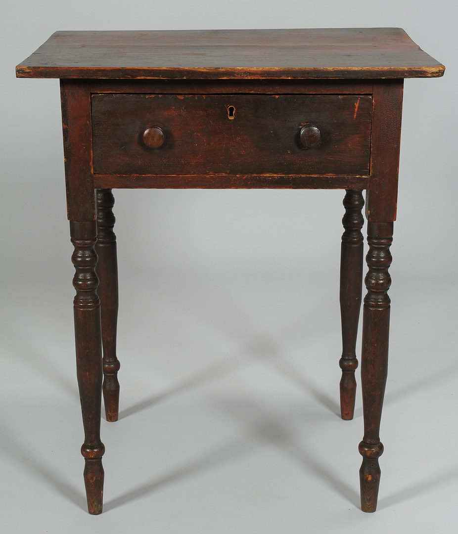 Lot 107: Southern Yellow Pine One Drawer Stand