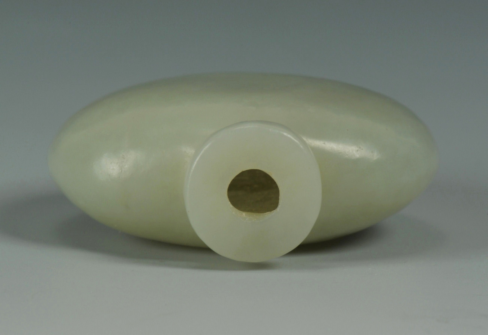 Lot 10: Chinese Celadon Jade Snuff Bottle