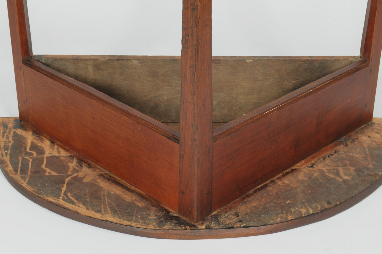 Lot 111: Tennessee half round walnut table