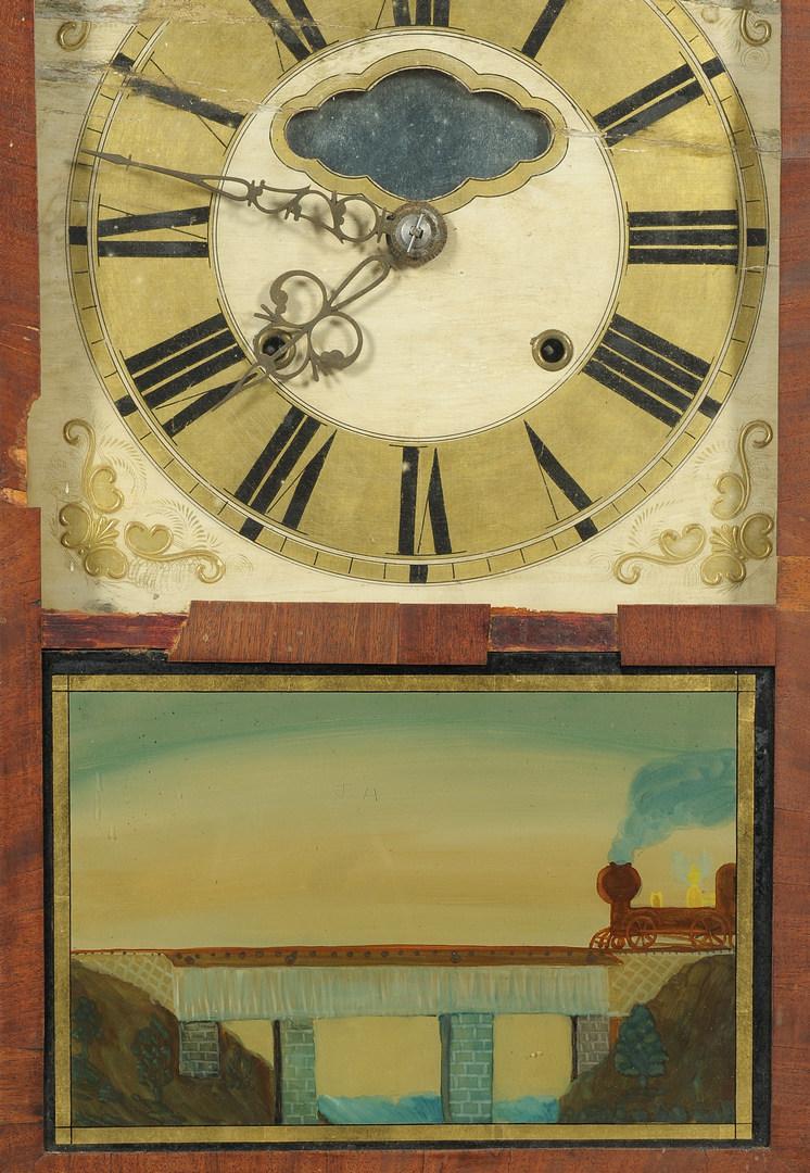 Lot 115: Classical Shelf Clock, Augusta, Georgia label