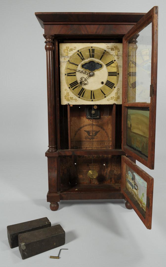 Lot 115 Classical Shelf Clock Augusta Georgia Label