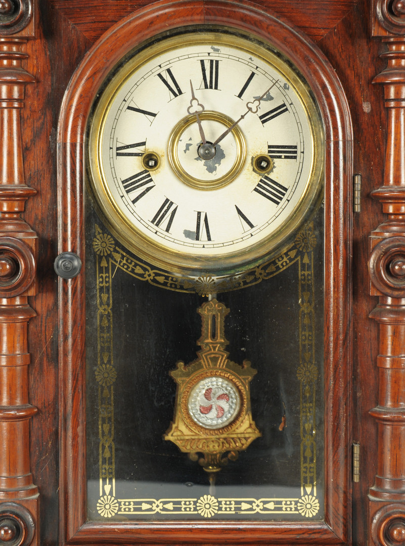 Lot 116: Welch Strong and Co. Rosewood Mantle Clock