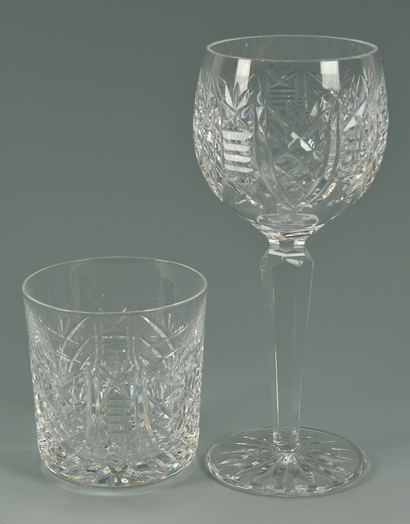 Lot 118: Waterford Clare Crystal Wine Hocks & Tumblers